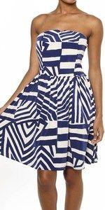 Blue & White Strapless Dress at Destin Stars! $49.95 So Cute!