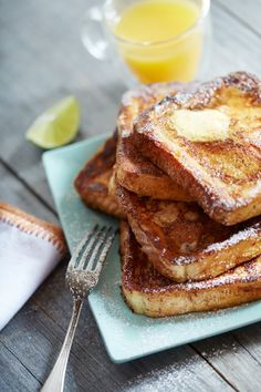Lime French Toast.  Breakfast.