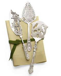 Silver-Plated Dessert Servers - Horchow