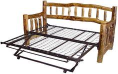 Log Furniture   Aspen Log Beds, Headboards, and Frames - Williams Log Cabin Furniture ...