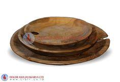 PLATE SET OF 3 - Wood BOWLS
