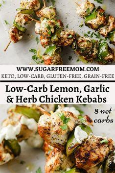 Lemon Garlic Chicken, Baked Chicken, Chicken Recipes, Keto Chicken, Healthy Food Options, Healthy Recipes, Ketogenic Recipes, Ketogenic Diet, Diet Recipes