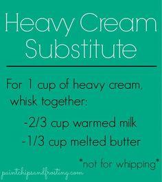 Heavy Cream Substitute