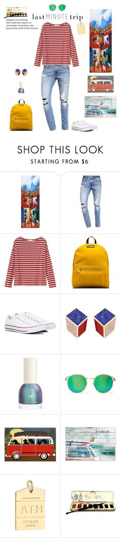 """""""spring stripes"""" by xanthik ❤ liked on Polyvore featuring NOVICA, Abercrombie & Fitch, Toast, Dr. Martens, Converse, Wildfox, Liora Manné, Marmont Hill and Jet Set Candy"""