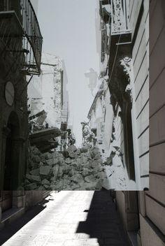 Troina ago1943-ago2008 sovrapposte - I fantasmi della guerra - giomodica