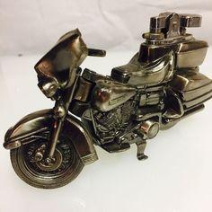 Vintage AMF Harley Davidson Motorcycle Pewter Metal Table Cigarette Lighter | eBay