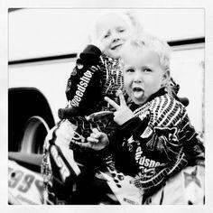 My kids ready 2 race♡ Celina 6yr and Emil 4yr. Girl, boy,Dirtbike, motocross, KTM, Fox   Photo by linda_pinda_