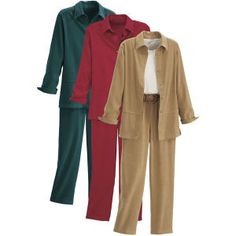 Microsuede Tunic and Pants Set - Casual Women's Clothing and Fashion Accessories - Exclusive Styles in Misses and Womens Plus Sizes   Serengeti  60oo