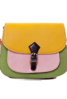 multi coloured leather satchel (from Love ur Look Clothing)