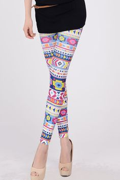 Colorful Geometric World Legging