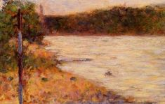 Banks of a River - Georges Seurat - The Athenaeum