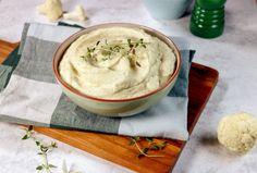 Enkel oppskrift på hjemmelaget blomkålpuré | Vita hjertego' Greens Recipe, Hummus, Soup, Ethnic Recipes, Homemade Hummus, Soups