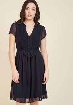 Ladies Who Launch A-Line Dress in Navy