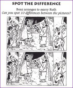 Spot the Difference (Ruth and Boaz) - Kids Korner - BibleWise