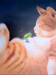 Makoto Muramatsu rescatado desde la página de hansui Makoto, Cat 2, Dog Art, Animal Drawings, Animal Pictures, Cute Cats, Cute Animals, Kitty, Pets