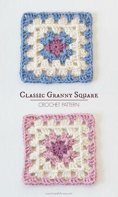 Hopeful Honey | Craft, Crochet, Create: Classic Granny Square - Free Crochet…