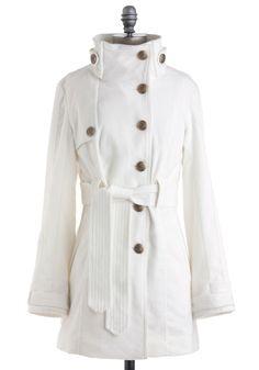 candy cane cutie coat in frost $69.99 modcloth - designer line jack by bb dakota.