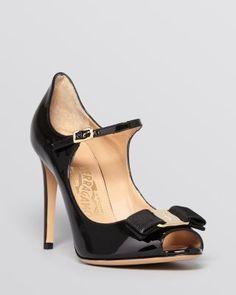 Salvatore Ferragamo Open Toe Mary Jane Ankle Strap Pumps - Mood | Bloomingdale's