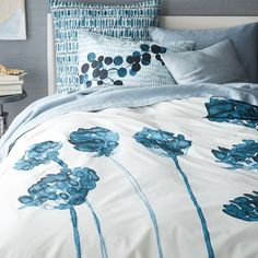 Roar + Rabbit Organic Blossom Duvet Cover + Shams | west elm 100% organic cotton king set  $210 for duvet and king shams