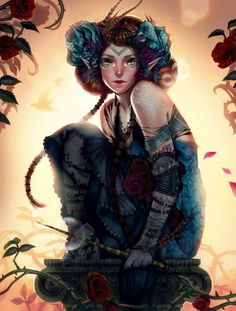 Awesome Digital Art by Emily Chen - Tribal Girl Warrior Nature Child Fantasy Illustration Fairy Tale