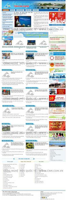 Cổng thông tin tỉnh An Giang - Thiết kế web http://cnm.com.vn