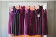 Purple bridesmaid dresses. Ombre bridesmaid dresses. Nashville wedding photographers. Wedding photos. Different bridesmaid dresses.