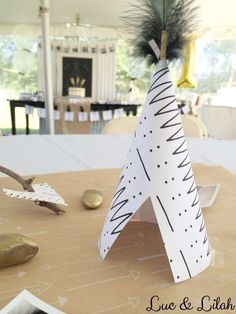 Centerpiece at a tribal birthday party! See more party ideas at CatchMyParty.com!