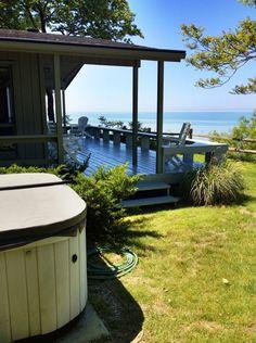 Saugatuck / Douglas Rental: Beach Cottage W/ Hot Tub & Lake Michigan Frontage- Summer Availability! | HomeAway