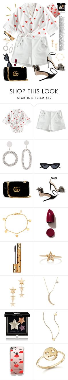 """""""Cariño"""" by gabyidc ❤ liked on Polyvore featuring Scialle, Le Specs, Gucci, Mia Sarine, NARS Cosmetics, Yves Saint Laurent, Sydney Evan, Anne Sisteron, Givenchy and Jennifer Zeuner"""
