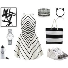 black illusions by inogitnadesigns on Polyvore featuring Halston Heritage, adidas Originals, Longines, Bernard Delettrez and Kate Spade Halston Heritage, Adidas Originals, Illusions, Kate Spade, Polyvore, Stuff To Buy, Shopping, Collection, Black