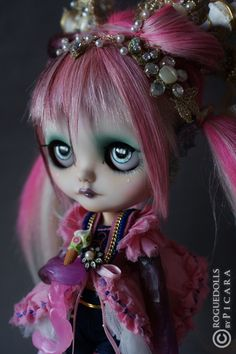 LITTLE MARINERITA custom Japan OOAK blythe ART doll by PICARA - ROGUEDOLLS