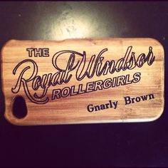 Get your very own personalised roller derby bamboo iphone case! ooOOoooooh :D #rollerderby #accessories #phonecases
