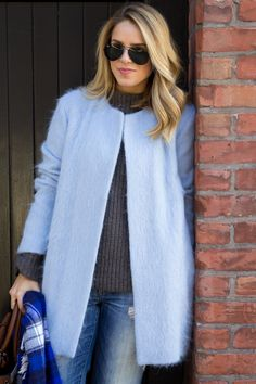 Blues & Plaid -The Zara coat mohair coat to fabulous!