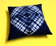 Indigo Tie Dye Cushion Cover Ethnic Indian Pillow Cases 16x16 Boho Shams Throw #Handmade #ArtsCraftsMissionStyle