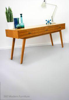 Mid Century Gertner Console Hall Sofa Table Oak Vintage Retro Scandi Danish Rosando era in Home & Garden, Furniture, Sideboards, Buffets & Trolleys | eBay 360 Modern Furniture