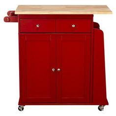 Michigan Kitchen Cart -Red