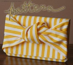 Square Knot Clutch Sewing Pattern - by Miss Make
