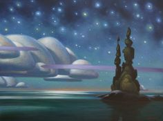 """""""Night Clouds"""" by Terry Watkinson, oil on canvas at Mayberry Fine Art Toronto Canadian Painters, Canadian Artists, Night Clouds, Parts Of The Earth, Art Toronto, Naive Art, Landscape Paintings, Landscapes, Nocturne"""