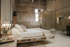 Ideen für Palettenmöbel  bett hängend vintage wohnung einrichtung