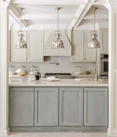 Contemporary Kitchen Island With Modern Pendant Lights Over The Island Accentuate Your Kitchen With Beautiful