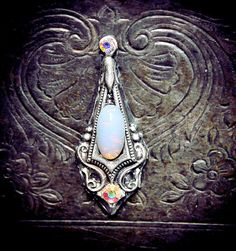 Unicorn Bindi, fantasy jewelry, tribal fusion, fairy, opal, wicca, pagan, goddess, skin accessory, bellydance costume, gypsy, magic, elven on Etsy, $19.05 CAD