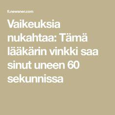Stress, Health Fitness, Wellness, Math, Tips, Beauty, Feng Shui, Finland, Relax