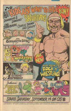 Saturday Mornings on CBS Muppet Babies Star Comics (Marvel) 1985 Old School Cartoons, 90s Cartoons, Animated Cartoons, Classic Comics, Classic Cartoons, Classic Tv, Cbs Saturday Morning, New Hulk, Berenstain Bears