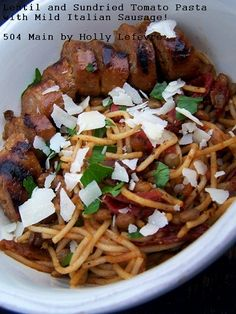 Lentil and Sundried Tomato Spaghettini