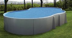 kidney shaped fiberglass above ground swimming pools designs