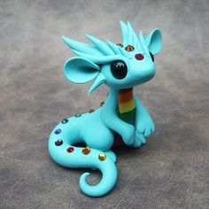 Rainbow Dragon by DragonsAndBeasties on Etsy
