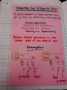 Math = Love: Algebra 1 - Unit 2 Linear Functions INB Pages