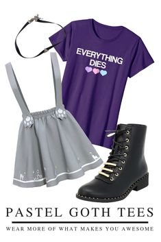 """EVERYTHING DIES"" - Pastel goth is more than fashion, it's a culture! Get in the pastel goth scene with this scary but cute witchy goth tshirt! KAWAII PASTEL GOTH FASHION - Wear this edgy aesthetic tshirt with your favorite goth girl clothing - pastel goth makeup and a cute pastel goth skirt! Perfect for your next lookbook OOTD! #tshirt #goth Pastel Goth Makeup, Pastel Goth Fashion, Aesthetic T Shirts, Goth Aesthetic, Goth Skirt, Girl Clothing, Fashion Wear, Goth Girls, Scary"