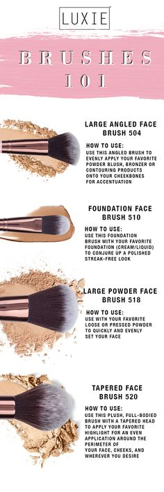 Luxie's favorite face brushes