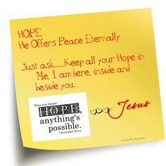Hope has His power, use it.